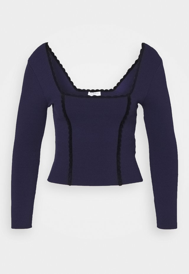JEMYL - Stickad tröja - marine
