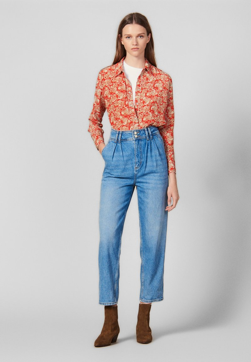 sandro - PEARLINE - Relaxed fit jeans - blue