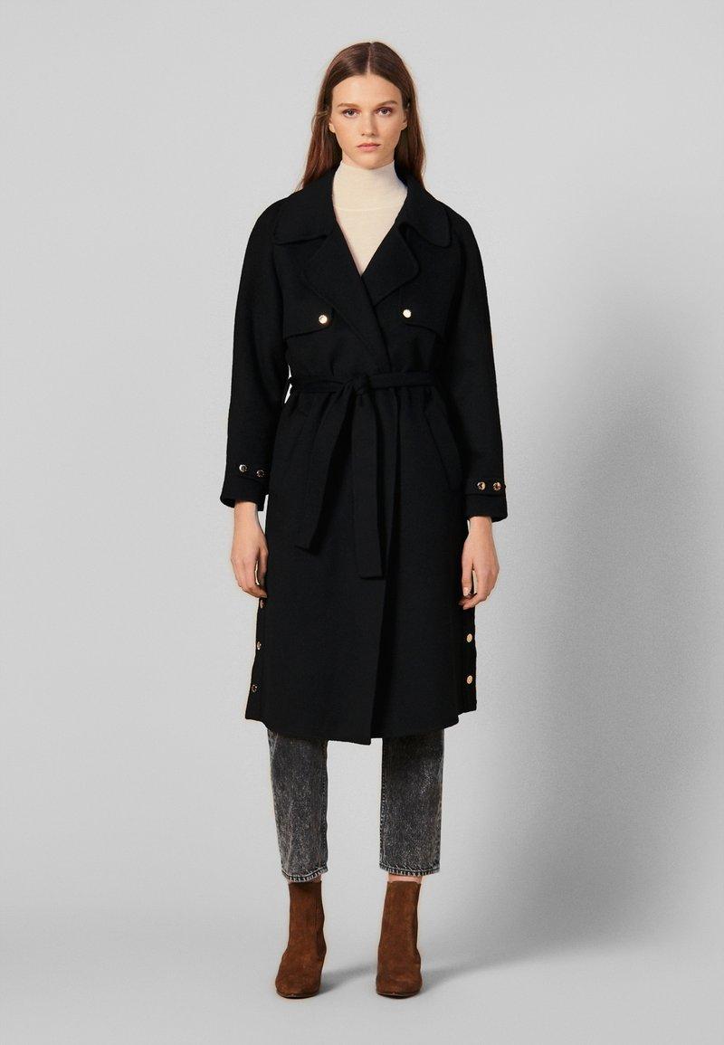 sandro - BAVOLE - Classic coat - black