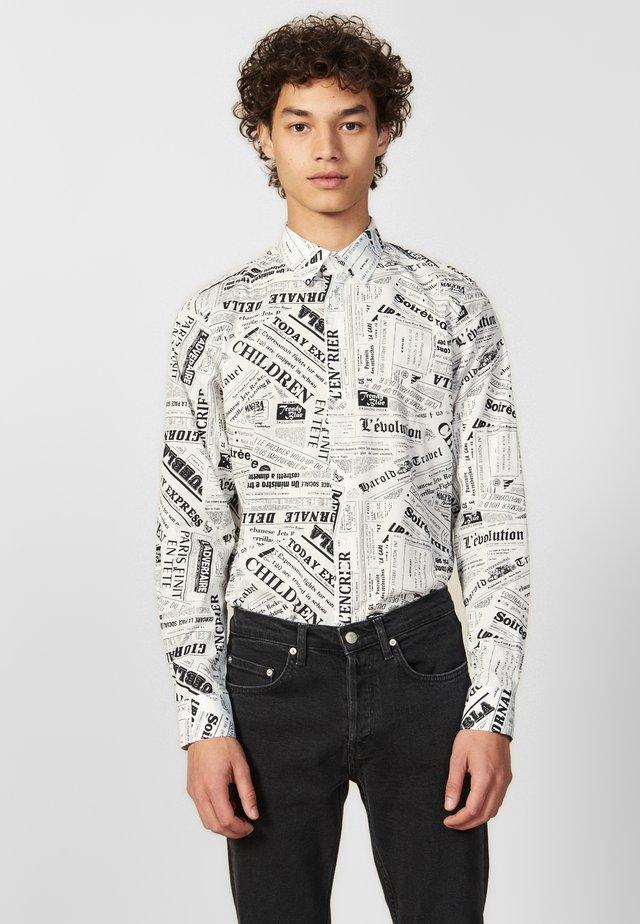 NEWSPAPER - Overhemd - white/black