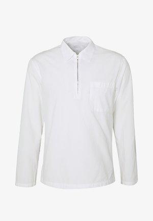 HALF ZIP CHEMISE CASUAL - Skjorter - blanc