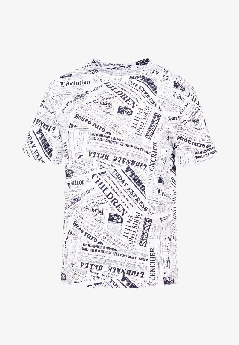 sandro - NEWSPAPER - T-Shirt print - white/black