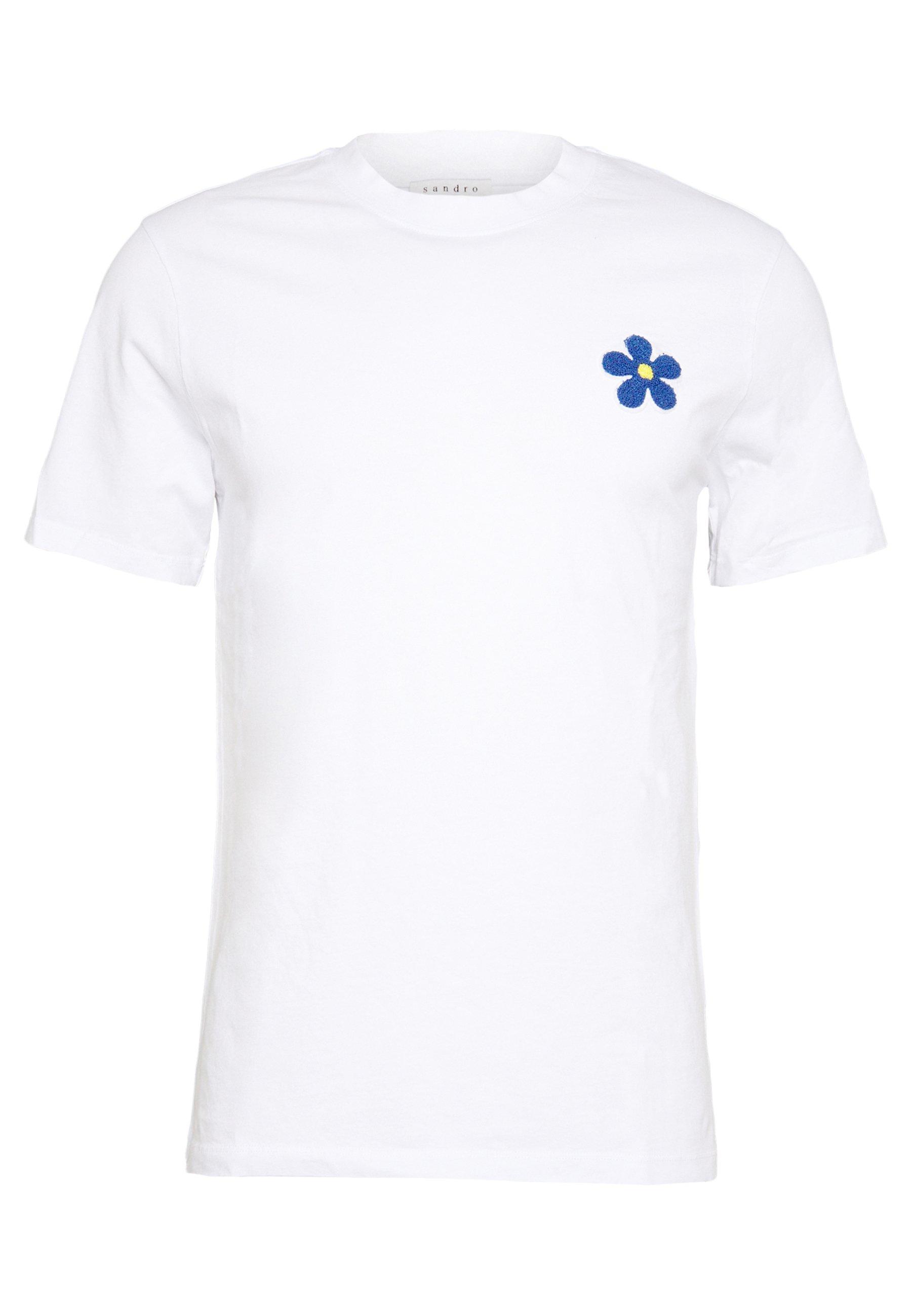 Sandro Daisy Tee - T-shirt Med Print Noir