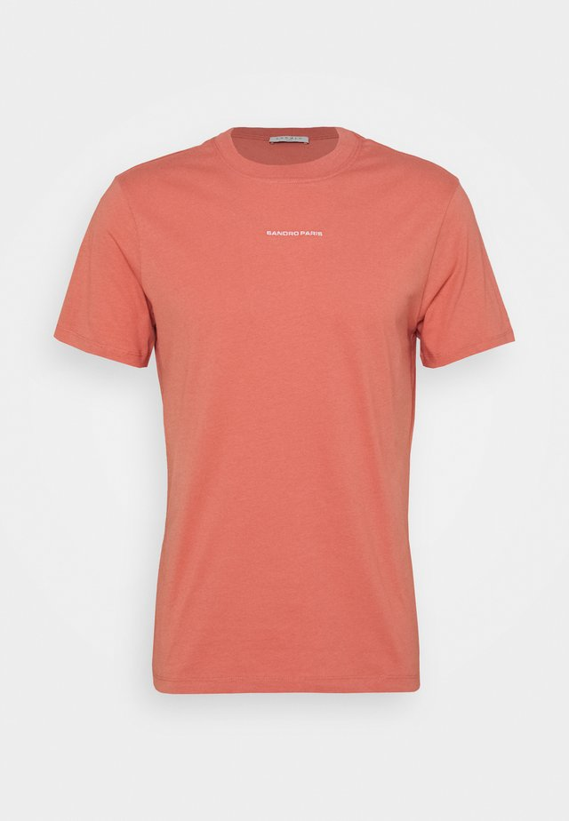 SOLID TEE  - T-shirts - rose pêche