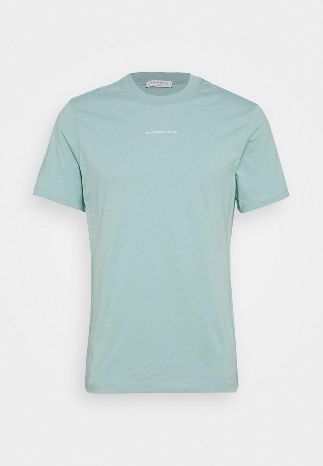 SOLID TEE  - T-shirts - vert d'eau