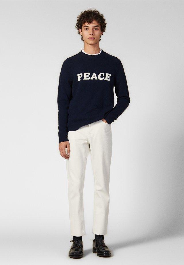 PEACE - Trui - navy blue