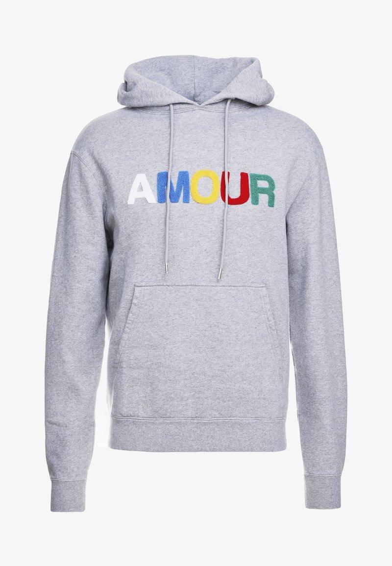 sandro - AMOUR - Bluza z kapturem - mocked grey