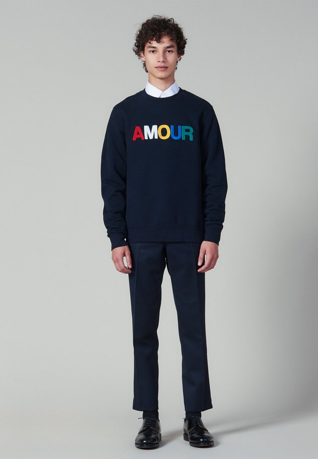 AMOUR - Sweater - navy blue
