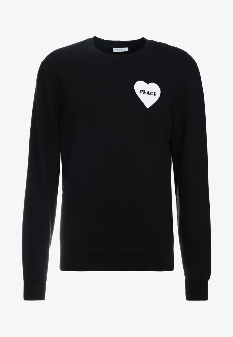 sandro - CREW PEACE - Sweatshirt - black