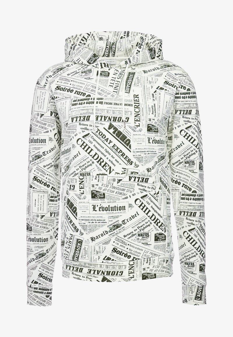 sandro - NEWSPAPER - Hoodie - black/white