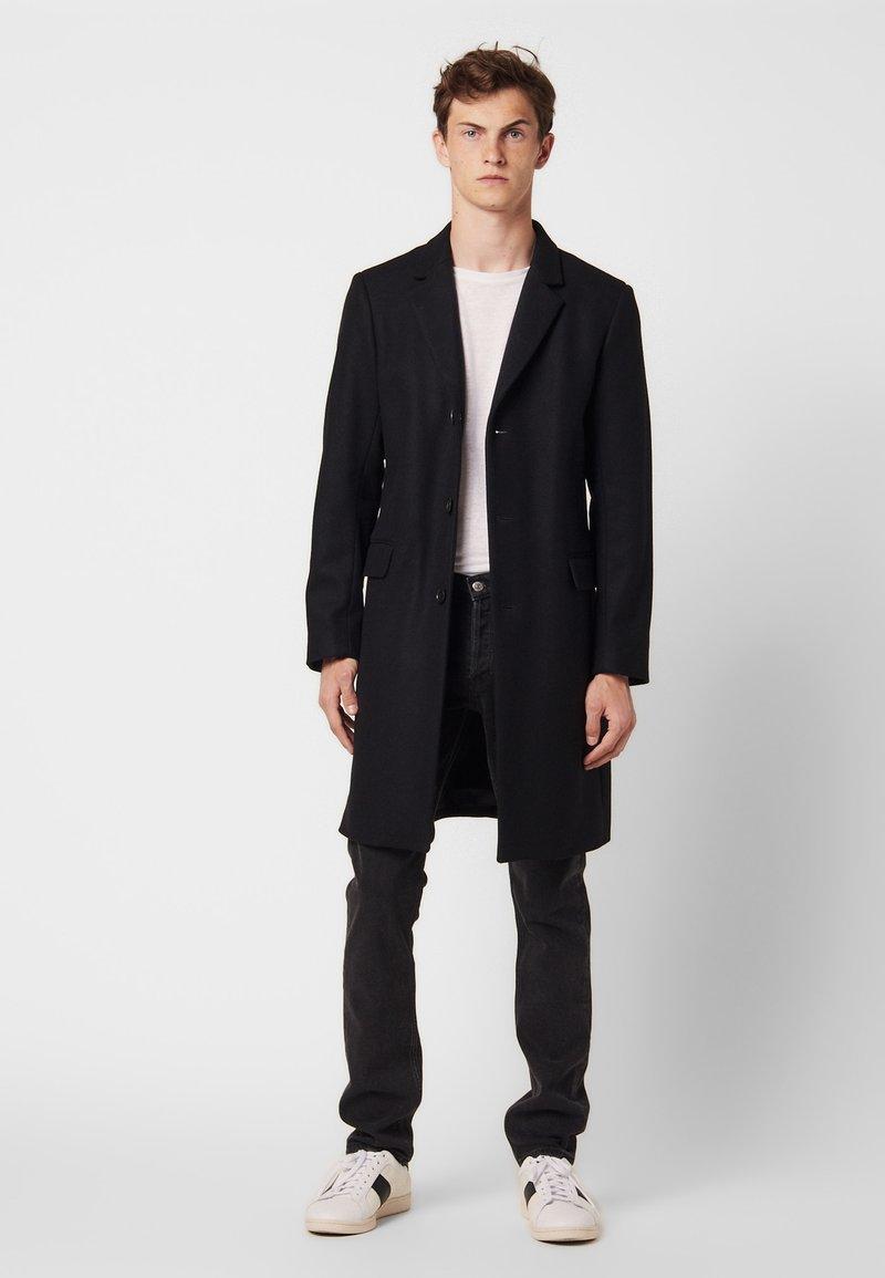 sandro - Classic coat - black