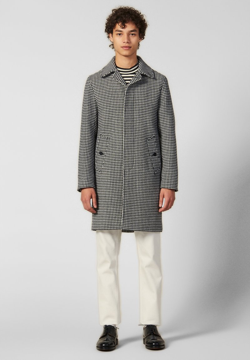 sandro - Płaszcz wełniany /Płaszcz klasyczny - black/white