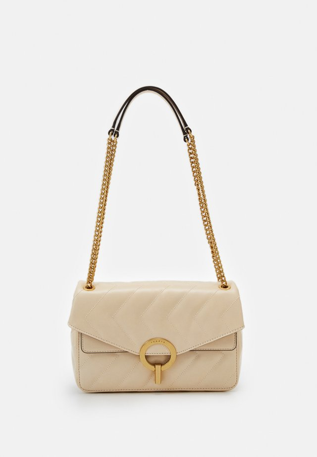QUILTED CHAIN SHOULDER BAG - Handväska - beige