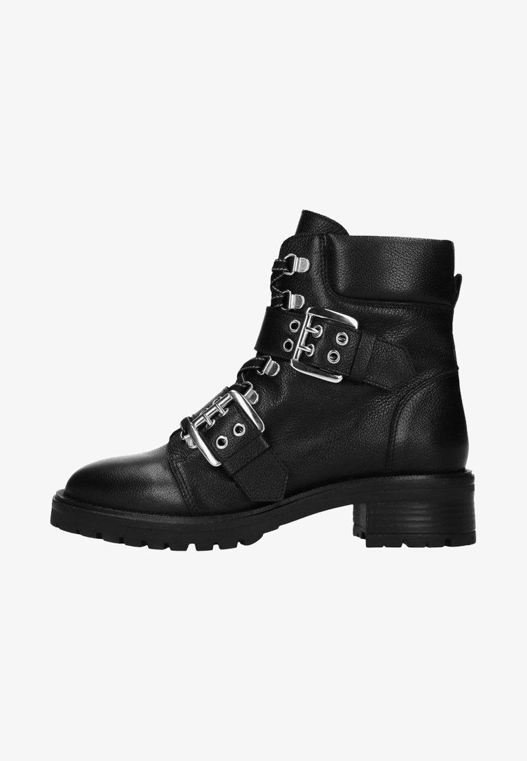 sacha - MIT SCHNALLEN - Cowboy-/Bikerstiefelette - black
