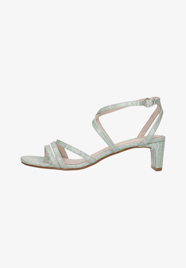 MIT KROKOMUSTER UND SCHMALEM ABSAT - Sandals - mint green