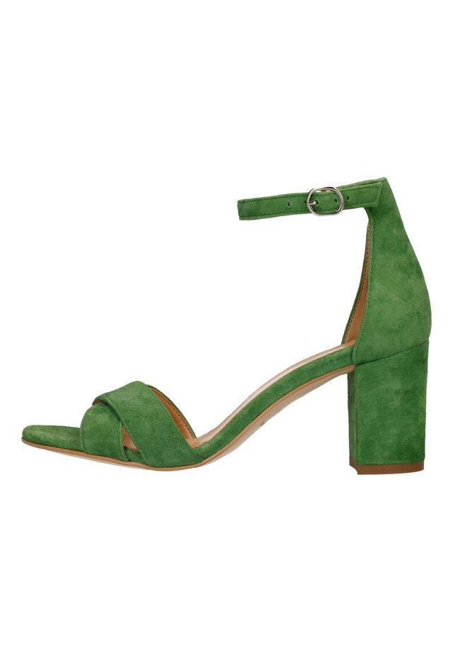 Sandalen met hoge hak - grün
