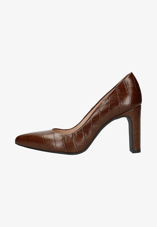 MIT KROKOMUSTER - High heels - dark brown