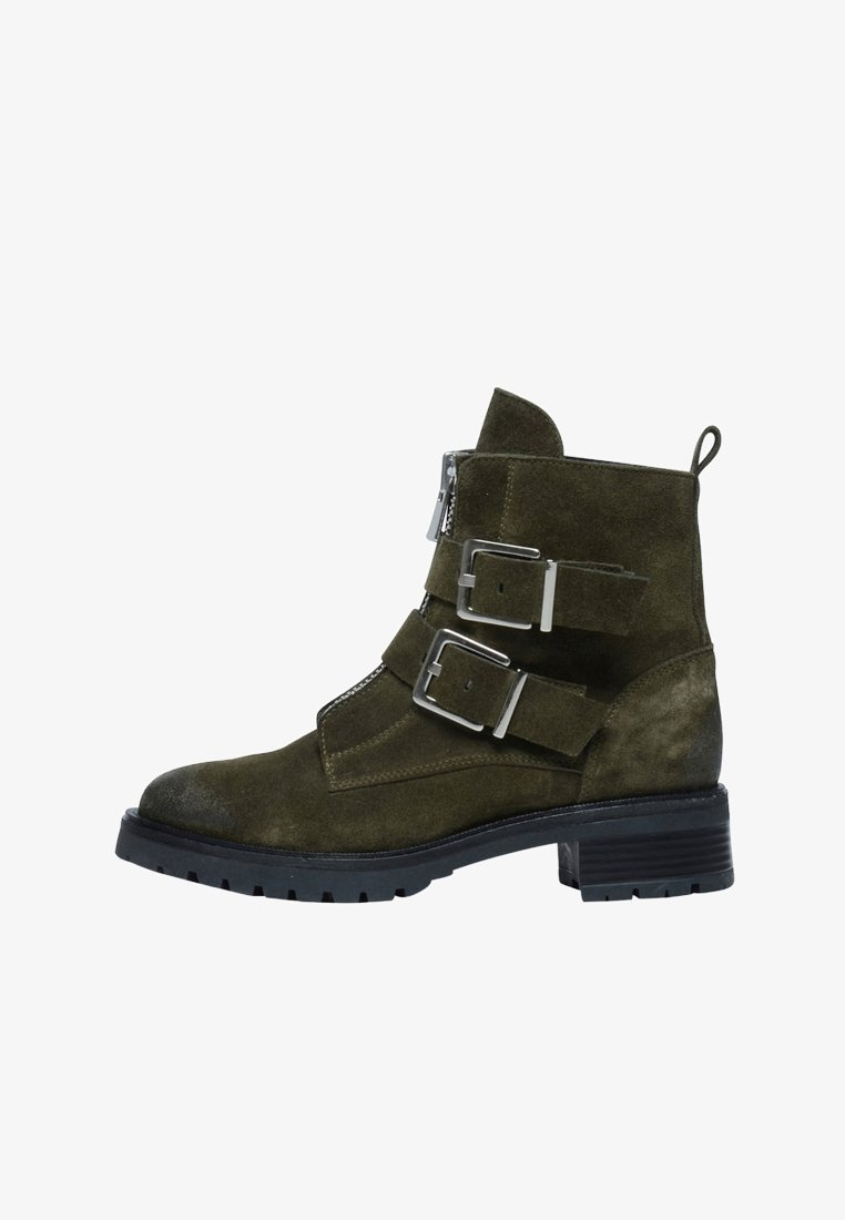 sacha - Cowboy/biker ankle boot - green