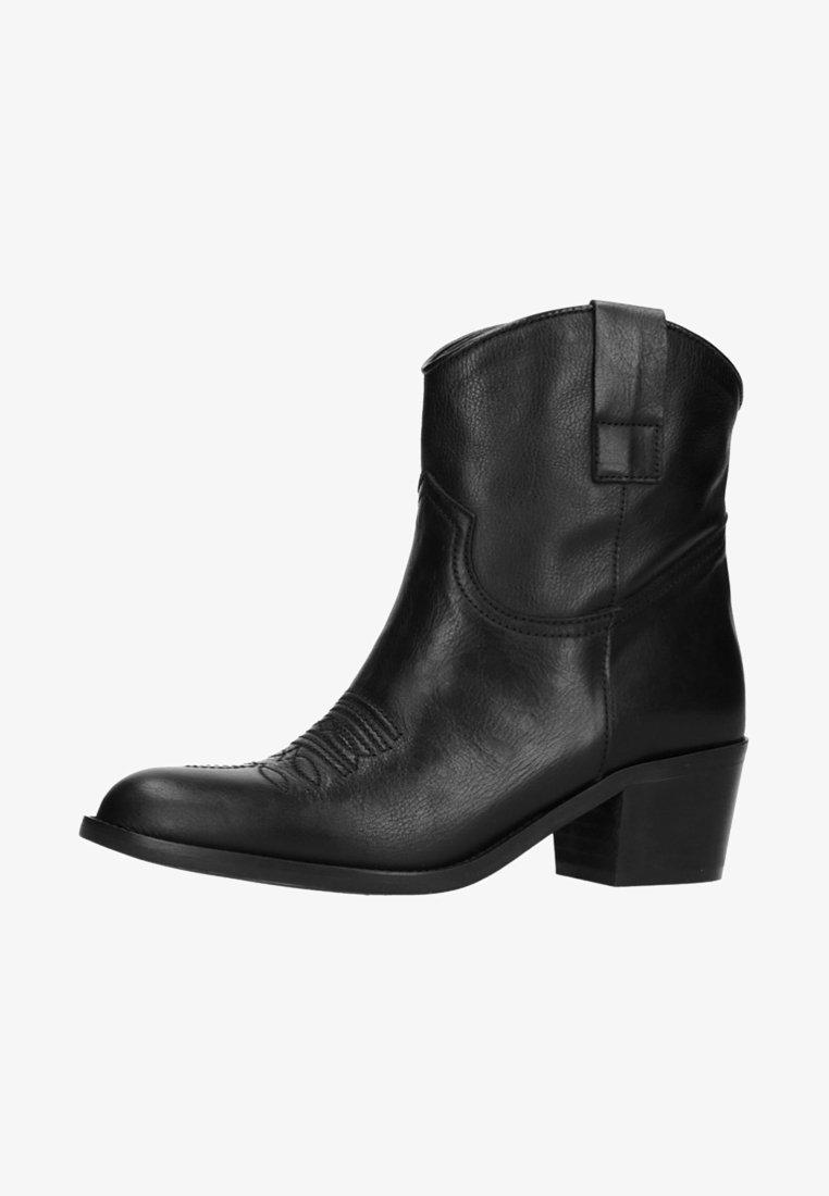 sacha - Cowboy-/Bikerstiefelette - black
