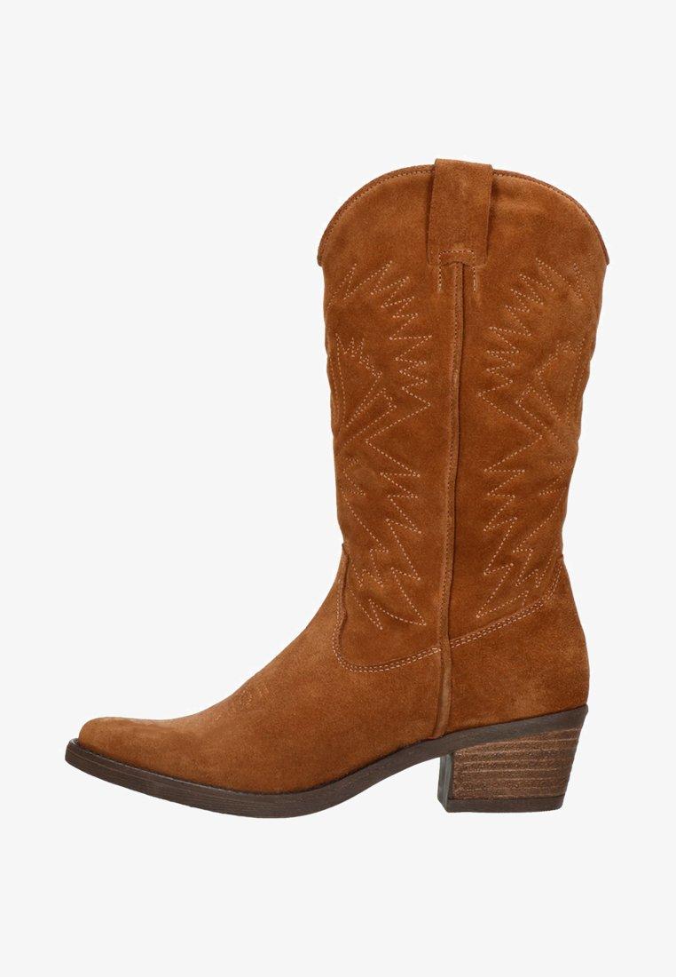 sacha - Cowboy/Biker boots - cognac