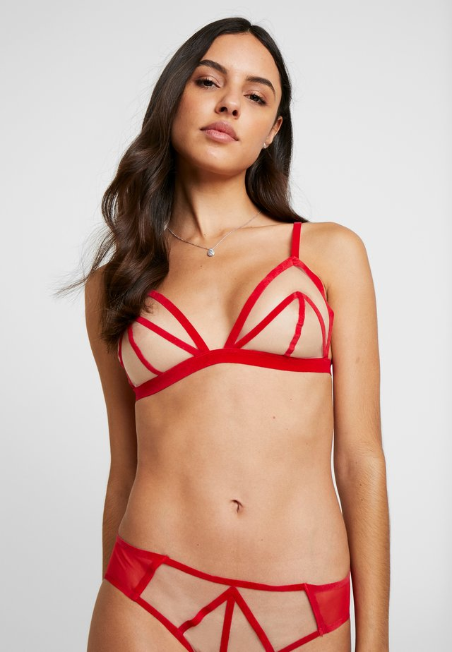 BRALETTE - Triangle bra - red