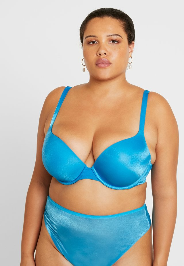 PLUS BRA - Push-up bra - blue jewel