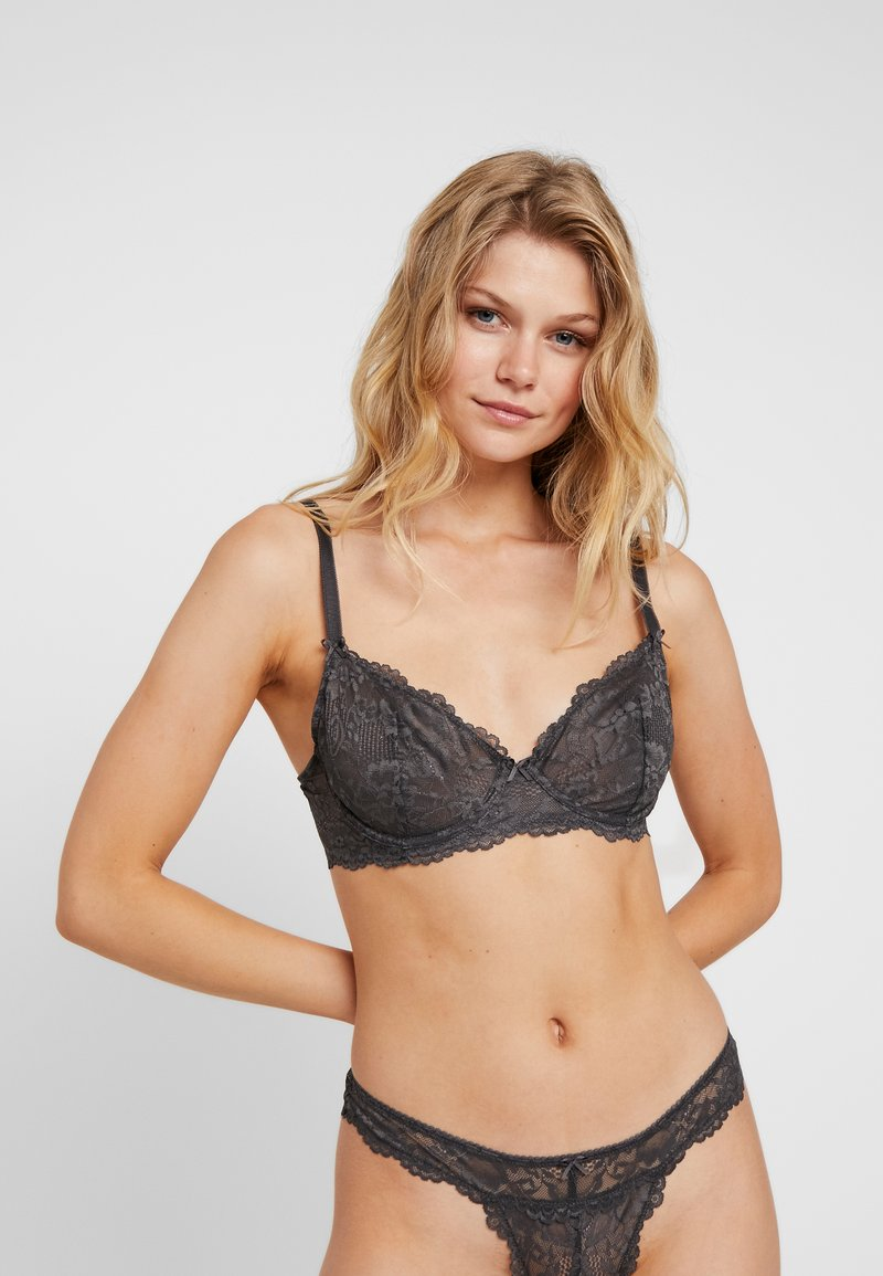 SAVAGE X FENTY  - UNLINED BRA - Bügel BH - blackened pearl