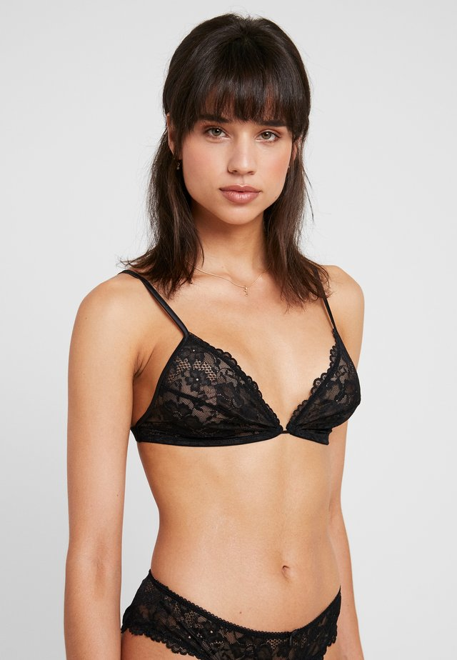 BRALETTE - Triangle bra - black