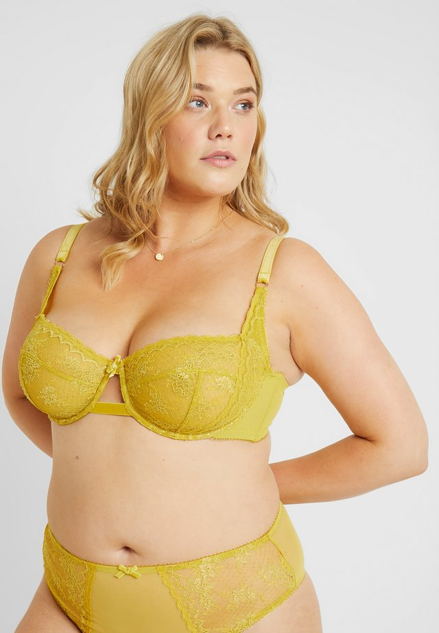 PLUS UNLINED BALCONETTE - Underwired bra - sulphur