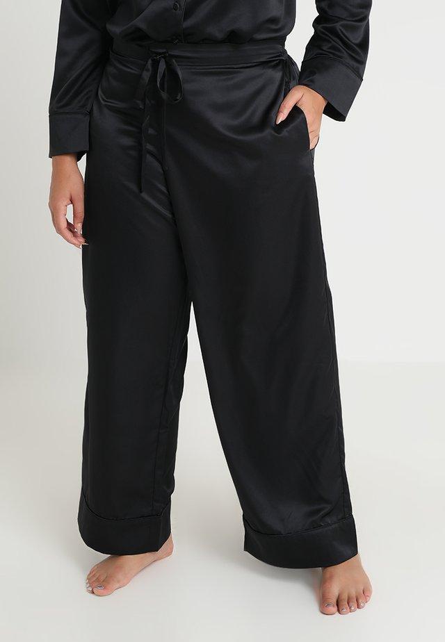 PLUS PAJAMA BOTTOM - Pyjamabroek - black