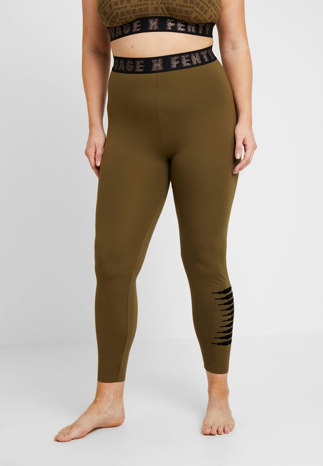 PLUS LEGGING - Pyjama bottoms - military olive