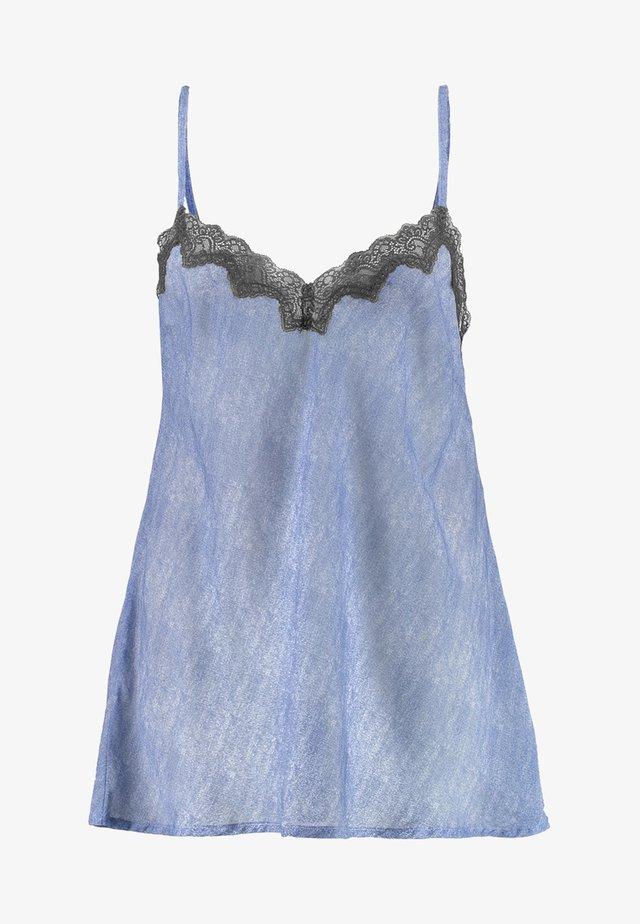 PLUS DRESS - Nattlinne - blue denim