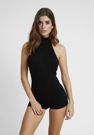 TURTLE NECK ROMPER - Overal - black