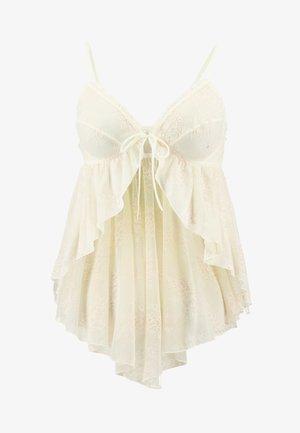 PLUS FLYAWAY BABYDOLL - Pyjamasoverdel - vanilla ice
