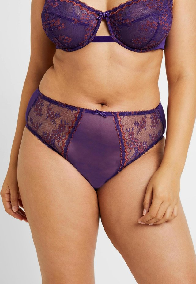 PLUS HIGH WAIST CHEEKY - Briefs - violet indigo