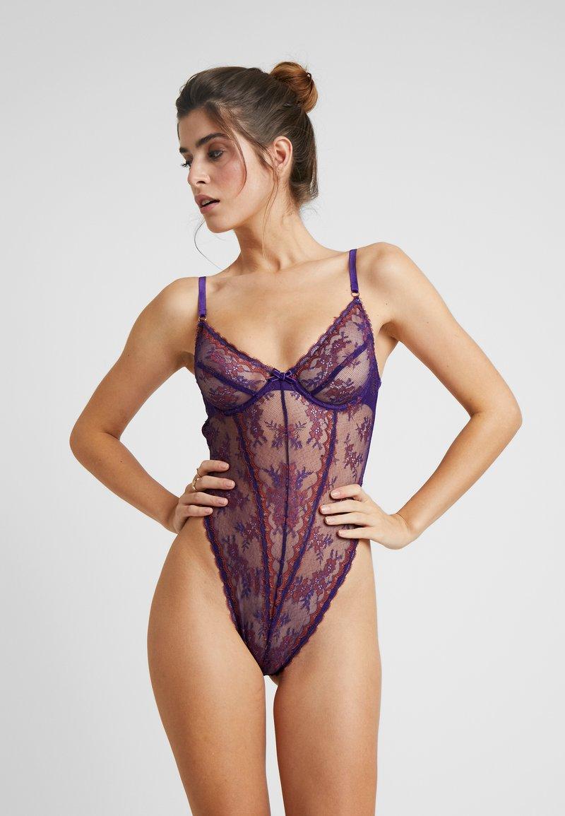 SAVAGE X FENTY - SUPER HIGH LEG UNDERWIRE TEDDY - Body - violet indigo
