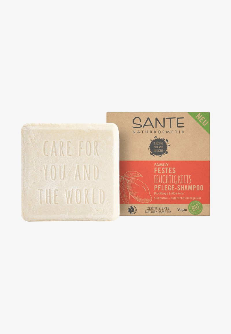 Sante - MOISTURISING SOLID CARE-SHAMPOO ORGANIC MANGO & ALOE VERA - Shampoo - -