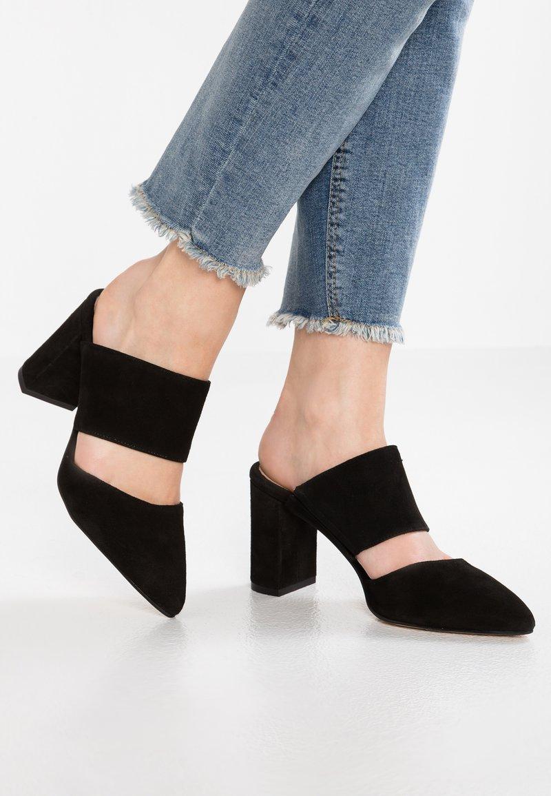 Shoe The Bear - SELMA - Pantolette hoch - black