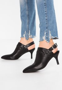 Shoe The Bear - AGNETE SLINGBACK - Tronchetti - black - 0