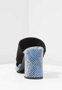 Shoe The Bear - SELMA SNAKE - Pantolette hoch - blue - 5