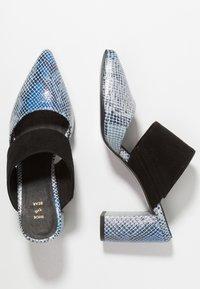 Shoe The Bear - SELMA SNAKE - Pantolette hoch - blue - 3