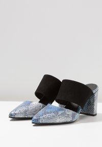 Shoe The Bear - SELMA SNAKE - Pantolette hoch - blue - 4