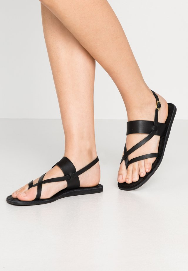 TAO STRAP - T-bar sandals - black