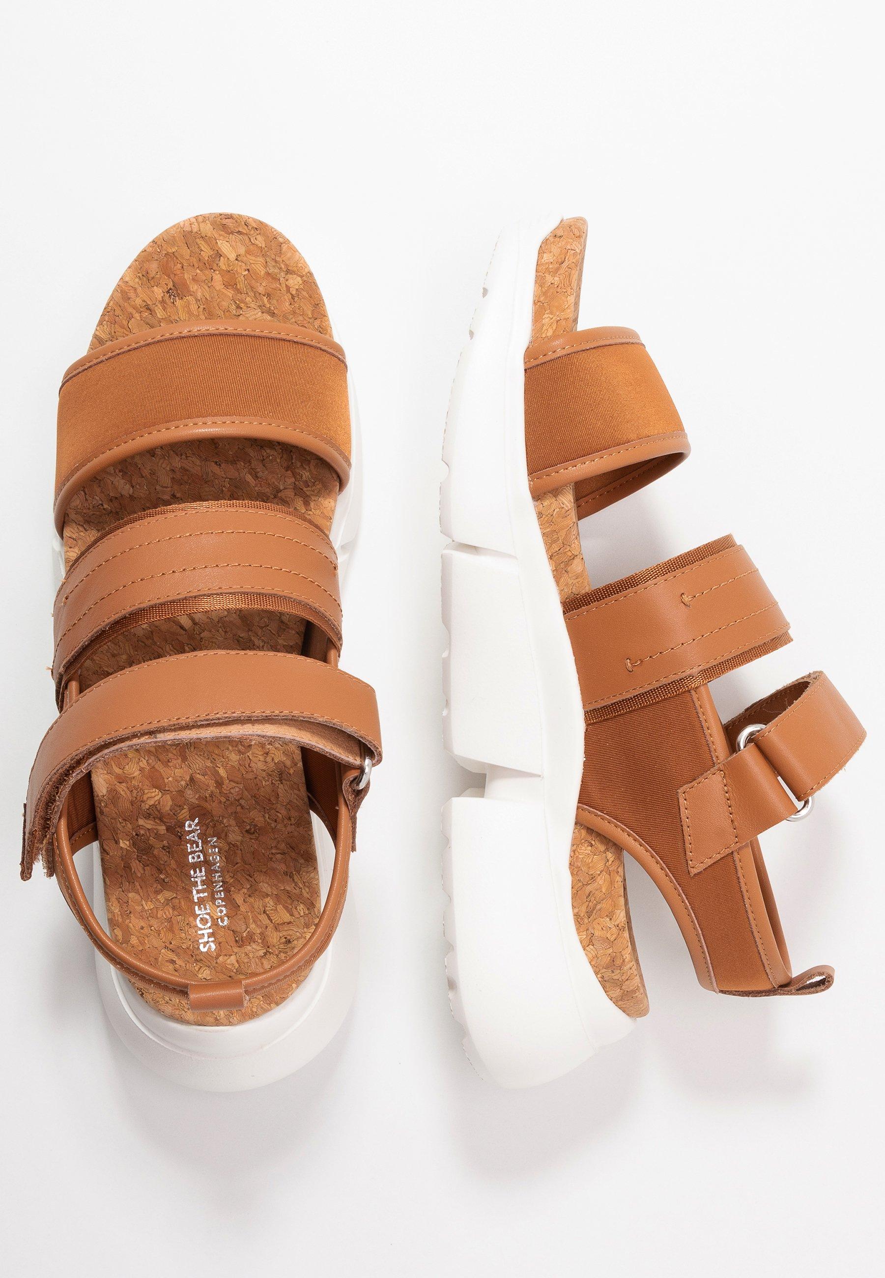 Shoe The Bear Mala Sport - Platåsandaletter Tan