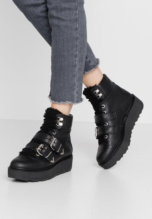 BEX BUCKLE  - Cowboy/biker ankle boot - black