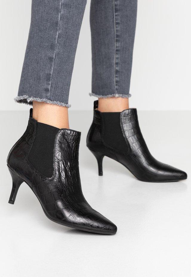 AGNETE CHELSEA CROCO - Ankle boot - black