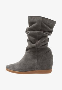Shoe The Bear - EMMY SLOUCHY - Wedge boots - dark grey - 1