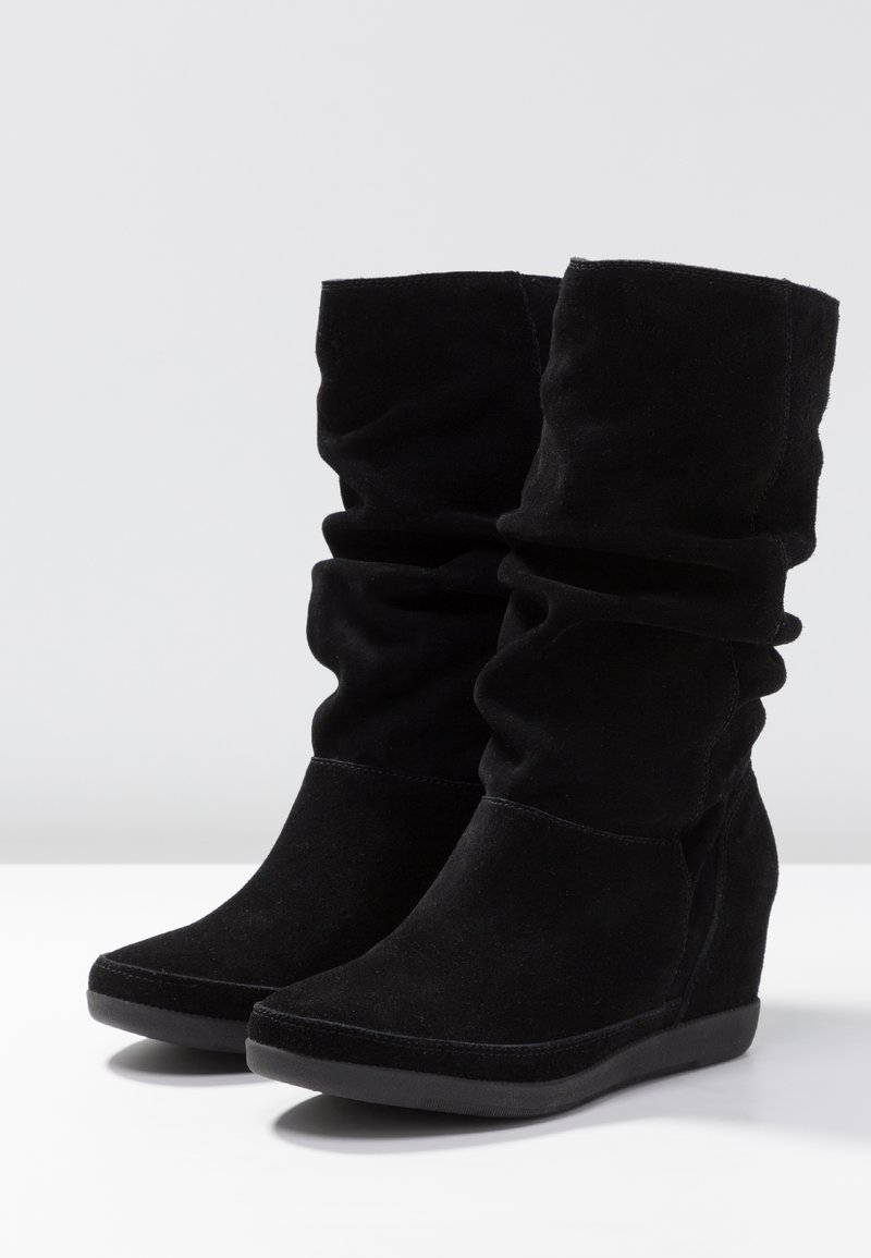 Compensées The SlouchyBottes Bear Black Emmy Shoe QBdxCeEroW