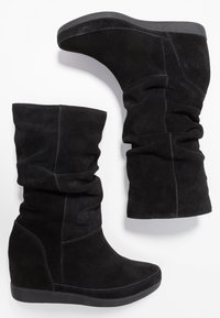 Shoe The Bear - EMMY SLOUCHY - Wedge boots - black - 3