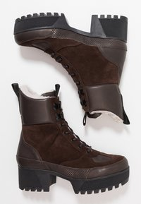 Shoe The Bear - CELESTE HIKE - Platåstövletter - brown - 3